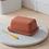 Thumbnail: Red Stoneware Ceramic Butter Dish