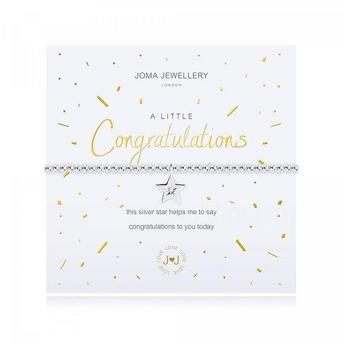 a little Congratulations Bracelet