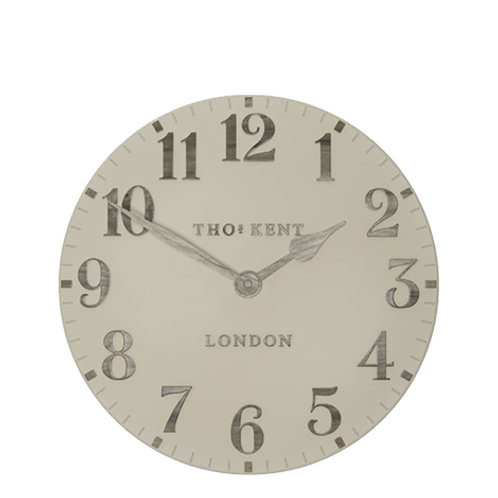 12 Inch Arabic Warm Oak Wall Clock