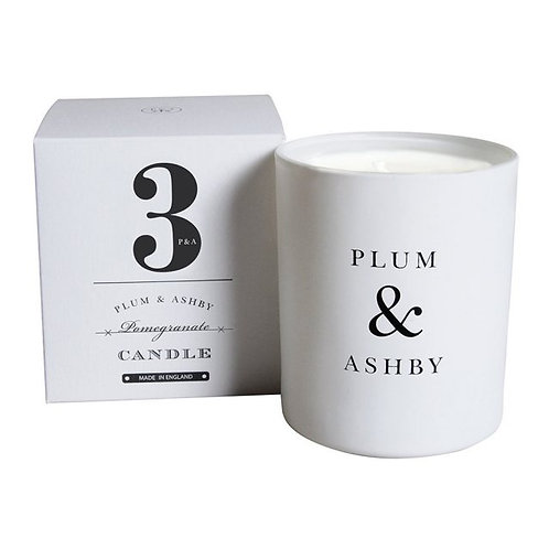 Number 3 Pomegranate Scented Candle