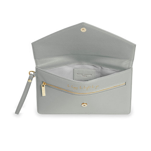 Esme Envelope Clutch Bag   Grey
