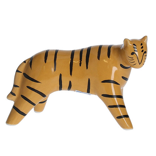 Ceramic Modernist Mini Tiger Ornament