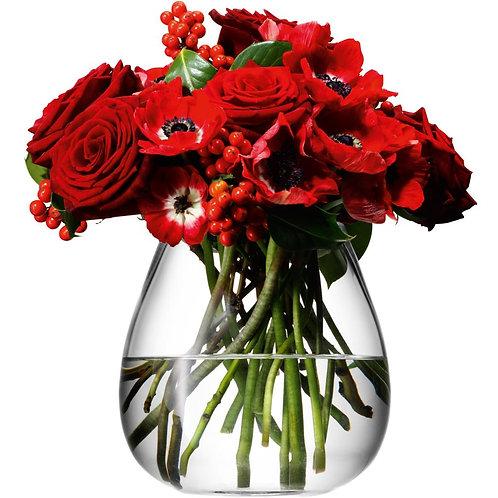 Flower Table Bouquet Vase H17cm Clear