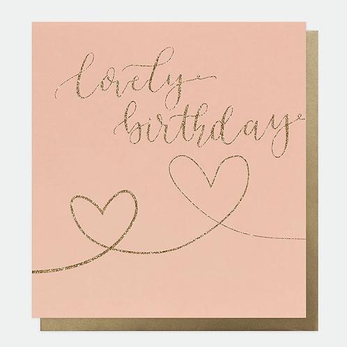 Eco Glitter Hearts Birthday Card