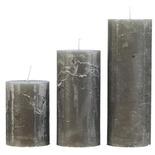 Rustic Grau Candle Medium (7x15cm)