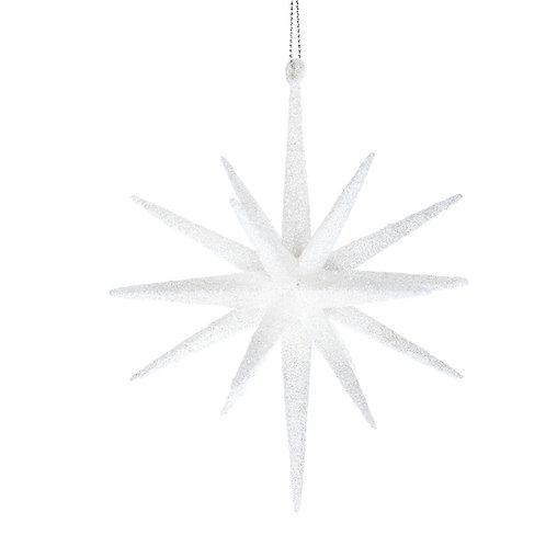 Acrylic Bethlehem Star White Glitter
