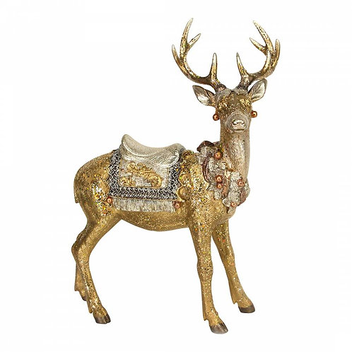Gold/Silver Standing Stag Ornament