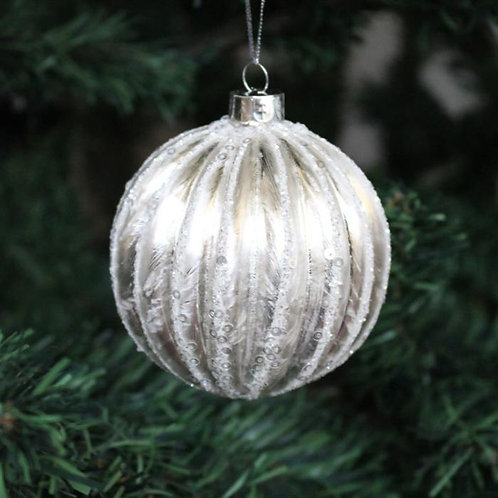 Silver and Gold Glass Bauble