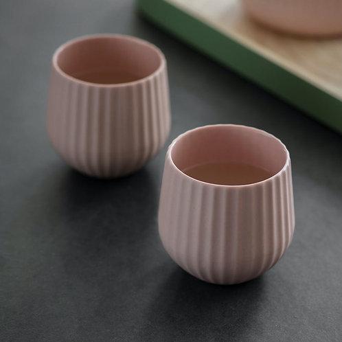 Ceramic Pair of Tumblers in Pink