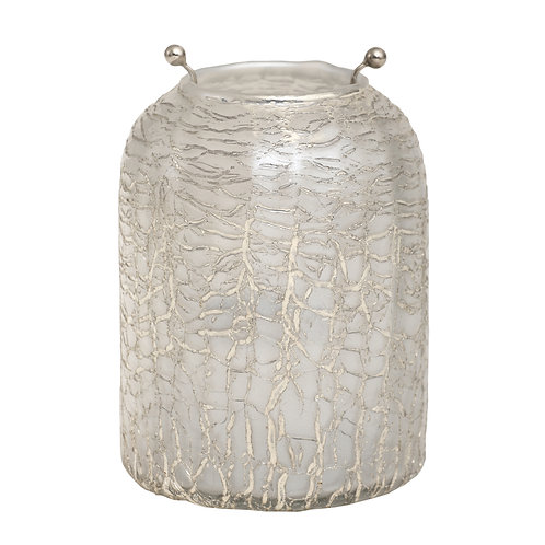 Mylie white Glass stormlight round crackle L