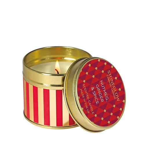 Seasonal Collection - Nutmeg Ginger & Spice - Candle Tin