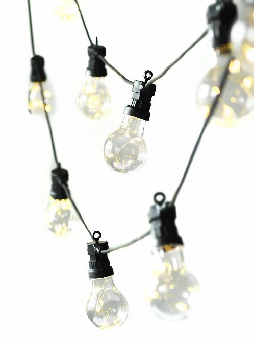 Black Classic Festoon Light - 10 Bulbs