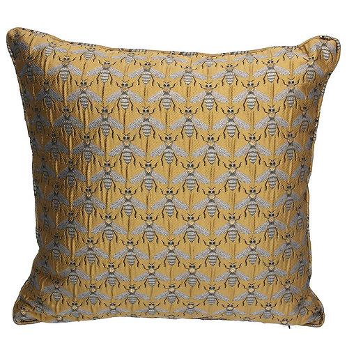 Jacquard Cushion 45cm - Gold Bees