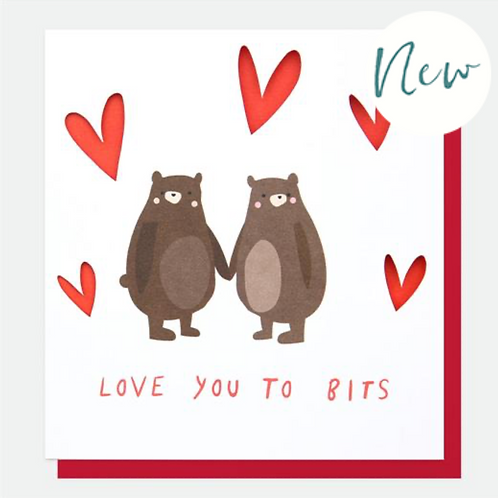 Love You To Bits Bears Valentines Day Card