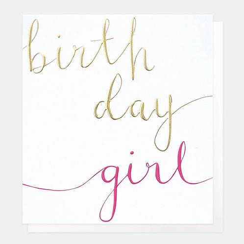 Calligraphy Birthday Girl Card