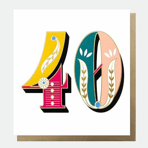 Carnival 40th Birthday Card