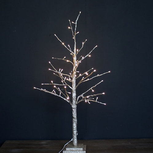 Extra Tall Champagne Glitter LED Tree 120cm