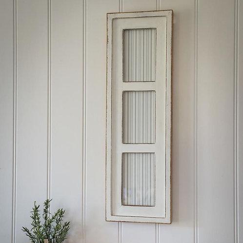 White 3 Aperture Photo Frame