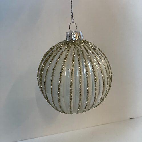 Gold and White Bauble