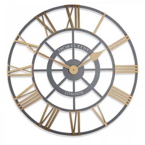 """24"""" Evening Star Brass Clock"""