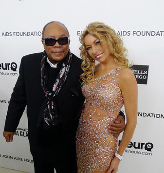 celebrity monika jensen and Quincy Jones
