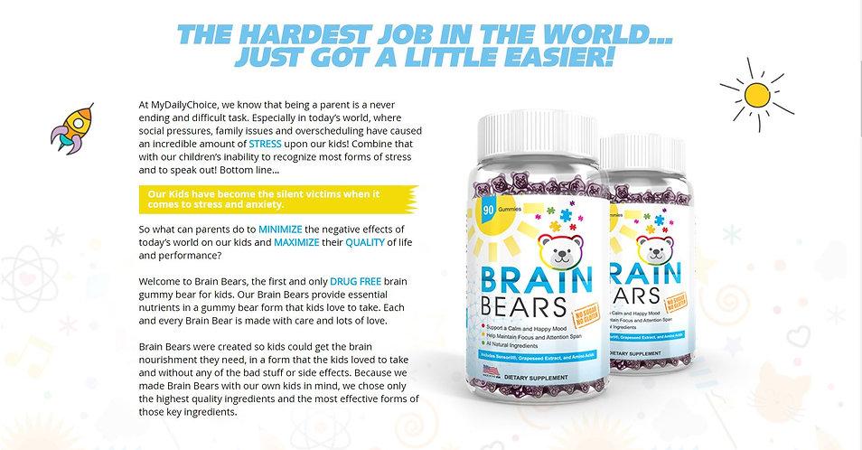brain bears vitamins for kids