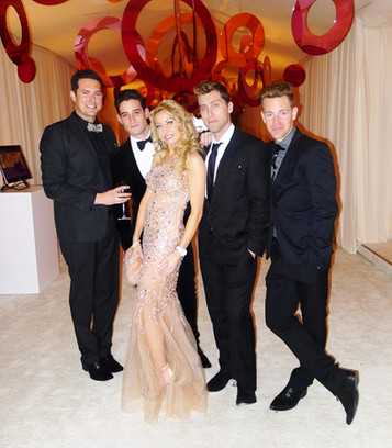celebrity model monika jensen and singer Lance Bass and NSYNC BAND