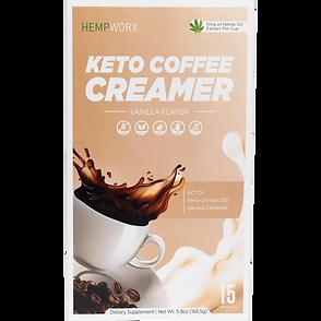 Vanilla HEMPWORX CBD KETO COFFEE CREAMER