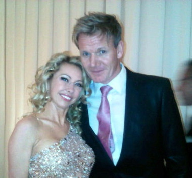 celebrity model artist monika jensen and master chef gordon ramsey