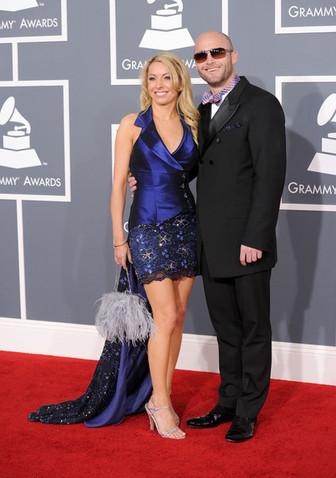 celebrity model artist monika jensen and Bill Borger at the Grammys