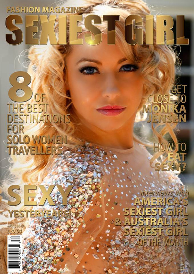 celebrity model artist monika jensen sexiest girl magazine cover publication