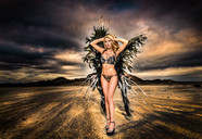 monika jensen angel wings photoshoot