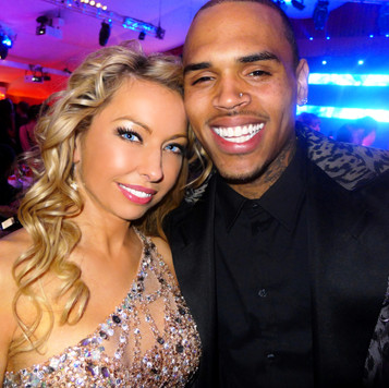 celebrity model monika jensen and chris brown