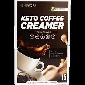 Mocha HEMPWORX CBD KETO COFFEE CREAMER.p