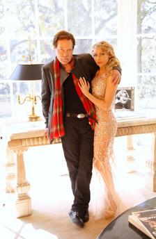 celebrity model artist monika jensen photoshoot Mark B Barron Mansion