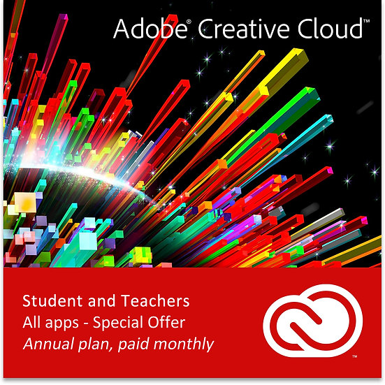 Adobe Creative Cloud All Apps (Student and Teachers)
