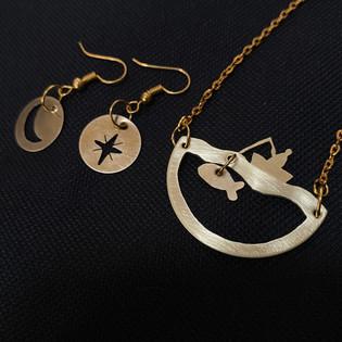 The Magic Fish Pendant and Earrings