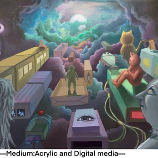Acrylic and Digital