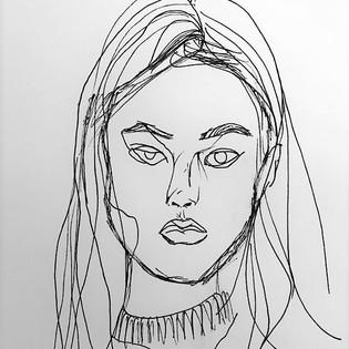 2 Face Contour Drawings