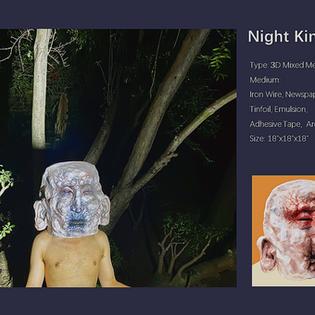 Night King Mixed Media Sculpture