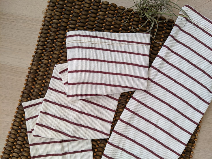 White Striped Leg Warmers