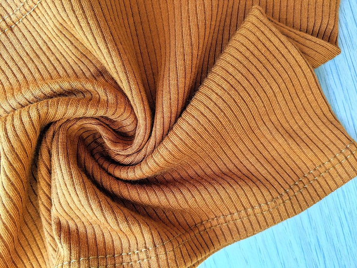 Honey Gold Yellow Rib Knit | You Pick