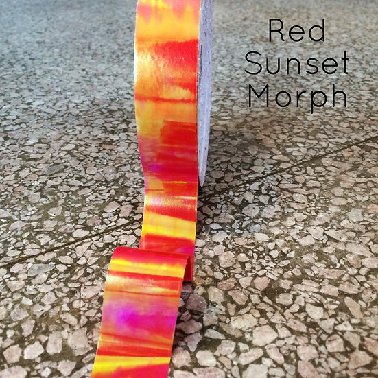 "1"" Red Sunset Morph Tape"