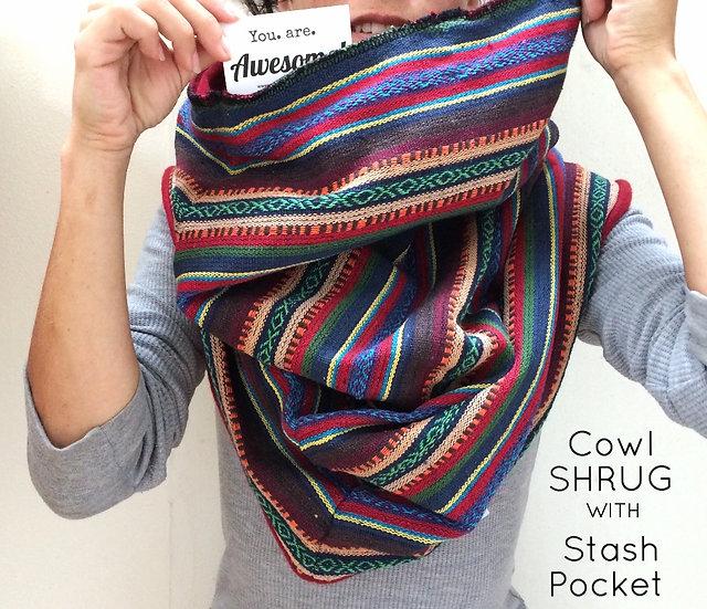 Cowl Shrug w/ Stash Pocket