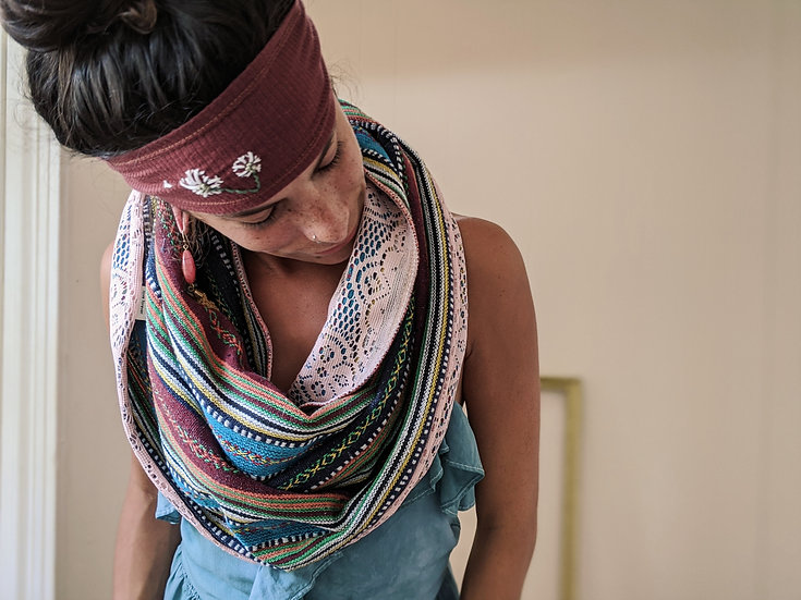 Nepalese/Lace Cowl HOOD