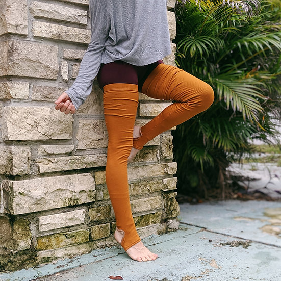[Fall Colors] Grip Rib Knit Leg Warmers