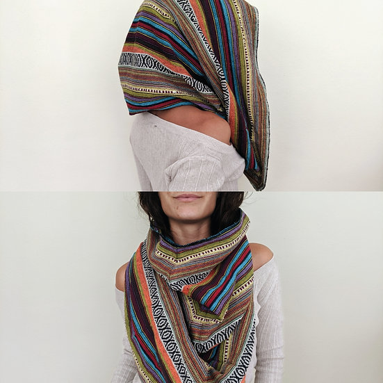 Orange Nepalese Cowl Shrug