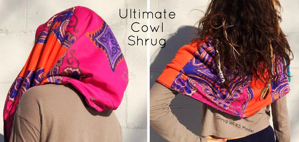 Rib Knit/Print Cowl Shrug