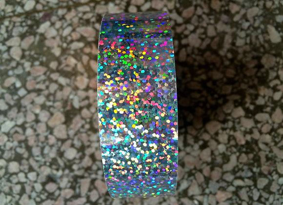 """1"""" Silver Glitter"""