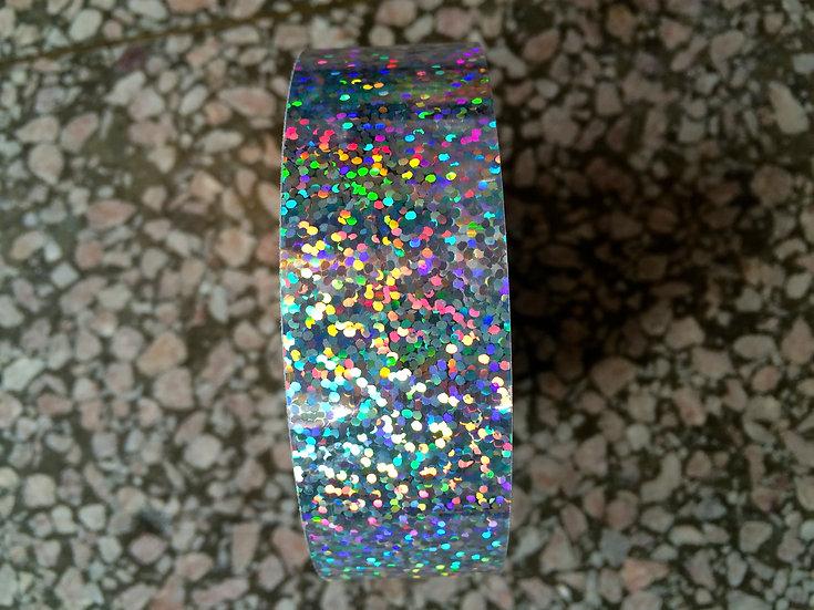"1"" Silver Glitter Tape"